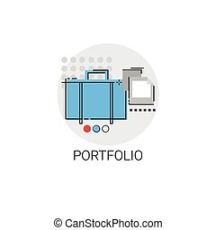 Portfolio Professional Occupation Business Icon Vector...