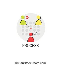 Business Team Meeting Brainstorm Process Icon Vector...