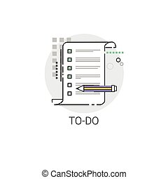 To Do Check List Paper Document