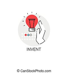 Invent New Idea Inspiration Creative Process Business Icon...