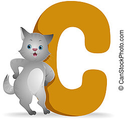 C for Cat with Clipping Path