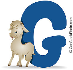 G for Goat with Clipping Path