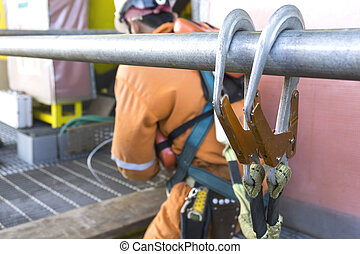 Oil and gas - Working at height equipment. Fall arrestor...