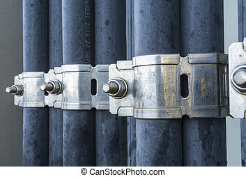 Oil and gas - Close up of high voltage electrical cables...