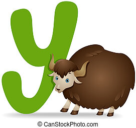 Y for Yak with Clipping Path