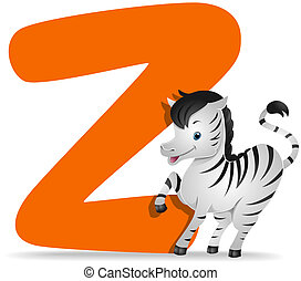 Z for Zebra with Clipping Path