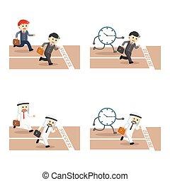 competitive businessman set illustration design