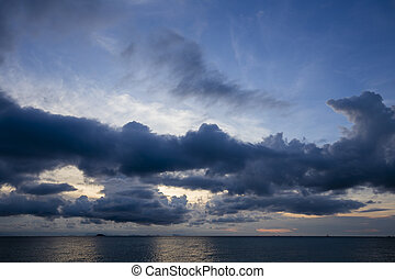 Sunset in Koh Phangan, Thailand - Wonderful dramatic sunset...