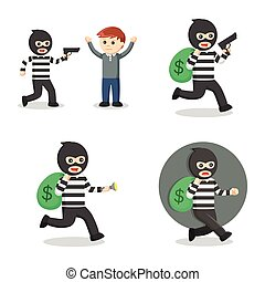 robber in action set