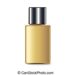 elegant perfume bottle isolated on white background