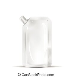 blank spout pouch isolated on white background