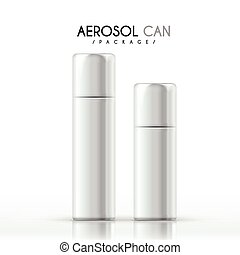 aerosol can package isolated on white background