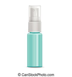cosmetic spray bottle isolated on white background