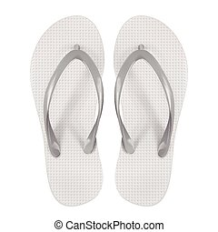 blank flip flops isolated on white background