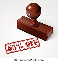 stamp 65 percent off in red text on white - stamp 65 percent...
