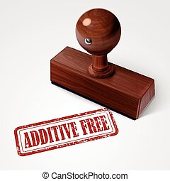 stamp additive free in red text on white - stamp additive...