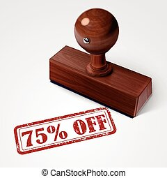 stamp 75 percent off in red text on white - stamp 75 percent...