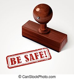 stamp be safe in red