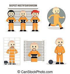 prisoner set illustration design