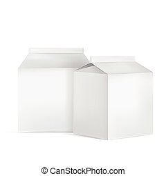 milk cartons set