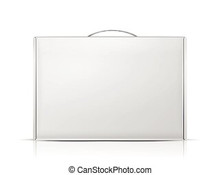 carton package box with handle isolated on white background