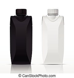 blank juice carton packs