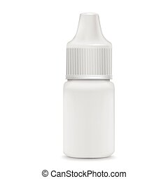 eye or ear drops bottle isolated on white background
