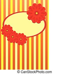 Background with frame and flowers, part 1, vector illustration