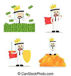 king arabic businessman set