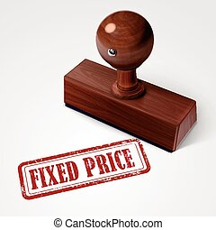 stamp fixed price in red