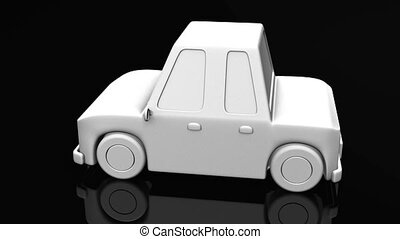 Car On Black Background - Loop able 3DCG render Animation.
