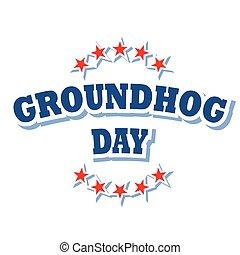 Groundhog Day logo symbol isolated on white background
