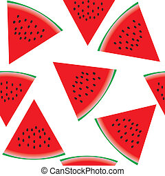 Seamless pattern with watermelon, part 1, vector illustration