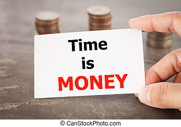 Time is money inspirational quote