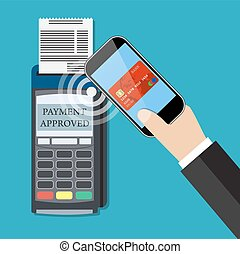 Payments using terminal and smartphone, near field...