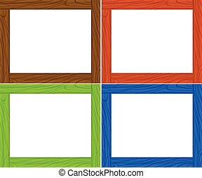 Frame template in four colors