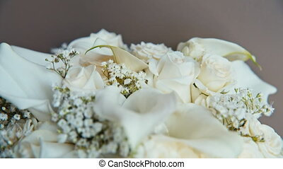white roses in a beautiful bouquet