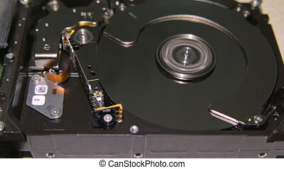 HDD - A Hard Disk Drive is open, real open hard drive.