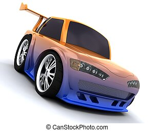 charicature of japanese drift car - 3D render of charicature...