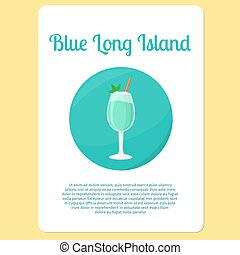 Blue Long Island cocktail icon - Blue Long Island cocktail...