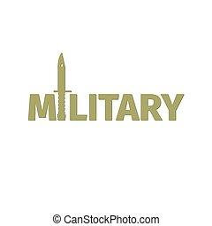 Military shop logo design with kinfe