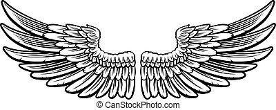 Pair of Etched Wings