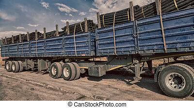 in south africa truck full of  wood