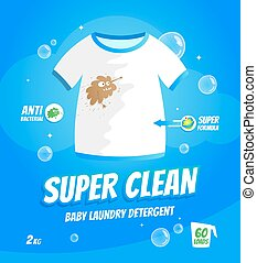 Laundry detergent package - Package design template for baby...