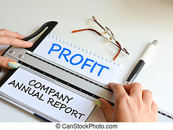 Annual report of your business to analyze financial results