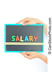 Measure salary concept in a business, company or economy