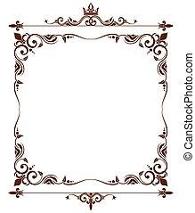 Geraldic royal fleur de lys ornate frame. Heraldic design...