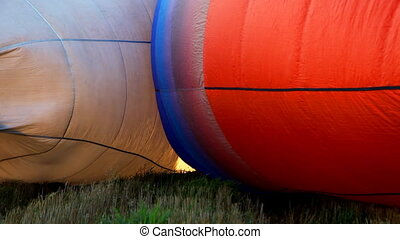 Two Hot air balloon blow up before start