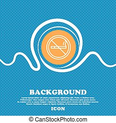 No smoking icon sign. Blue and white abstract background flecked with space for text and your design. Vector