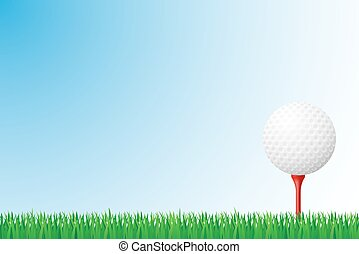 golf grass field vector illustration isolated on background